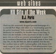 DJParis.com: Next HX Magazine Website of the Week